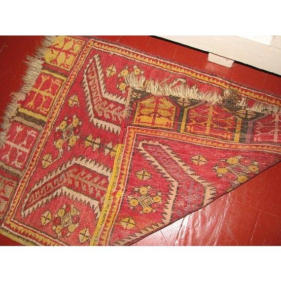 Islamic Caucasian Mafrash (Soumak Panel) Accent Kilm Rug - 1′10″ × 2′7″ For Sale - Image 3 of 4