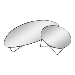 Cattelan Italia Minimal Mirrored Coffee Table
