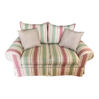 Craftmaster Preppy Stripe Loveseat For Sale