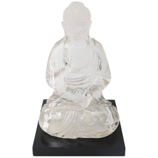 Clear Lucite Seated Buddha