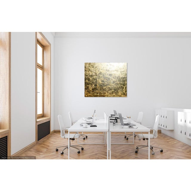 """2020s Monumental, Contemporary """"Gold"""" Gold Leaf Canvas by Martha Holden For Sale - Image 5 of 9"""