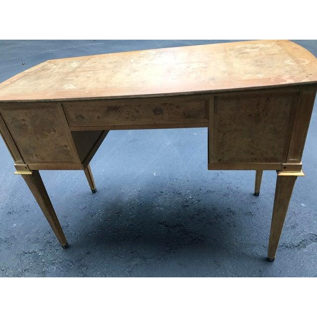 Mastercraft Desk Burled Wood - Image 7 of 11