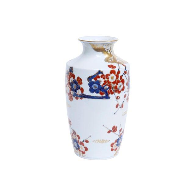 Asian Gold Imari Japanese Porcelain Floral Vase For Sale - Image 3 of 6