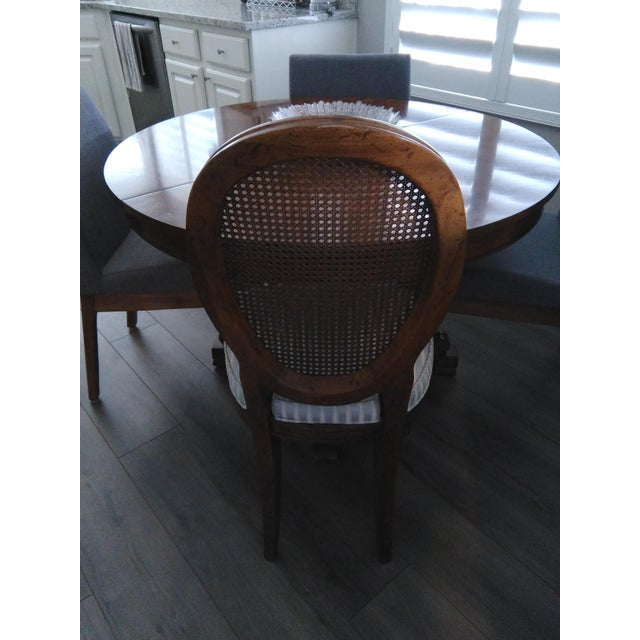 Drexel Vintage Mid Century Drexel Francesca Louis XV French Oval Back Dining Chairs- Set of 4 For Sale - Image 4 of 7