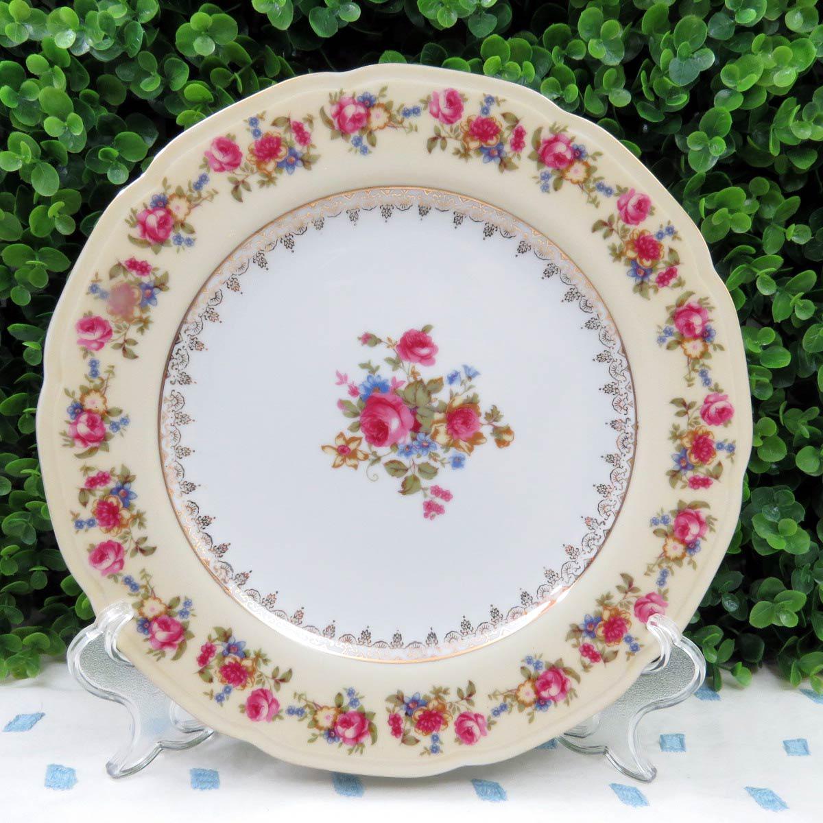Vintage Mismatched Dinner Plates - Set of 8 - Image 4 of 11 & Vintage Mismatched Dinner Plates - Set of 8   Chairish