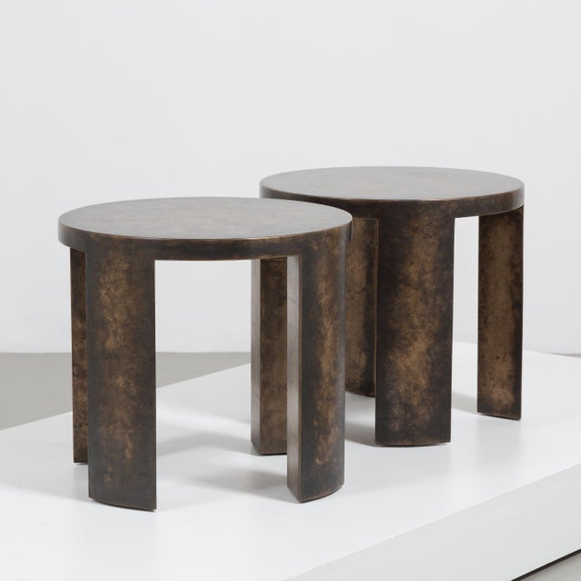 Talisman Bespoke The Circular Bronze Collection Side Tables by Talisman Bespoke For Sale - Image 4 of 7