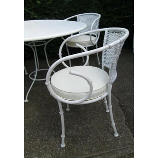 Iron Bamboo Palm Beach Regency Patio Table and 4 Chairs Preview