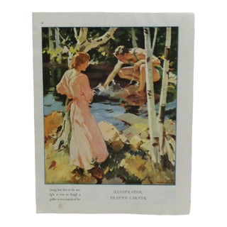 "Vintage ""Seeing Him"" Magazine Color Print by Pruett Carter For Sale"
