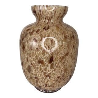 Murano Style Brown Italian Art Glass Vase For Sale
