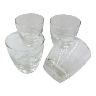 Vintage Etched Glass Cups For Sale