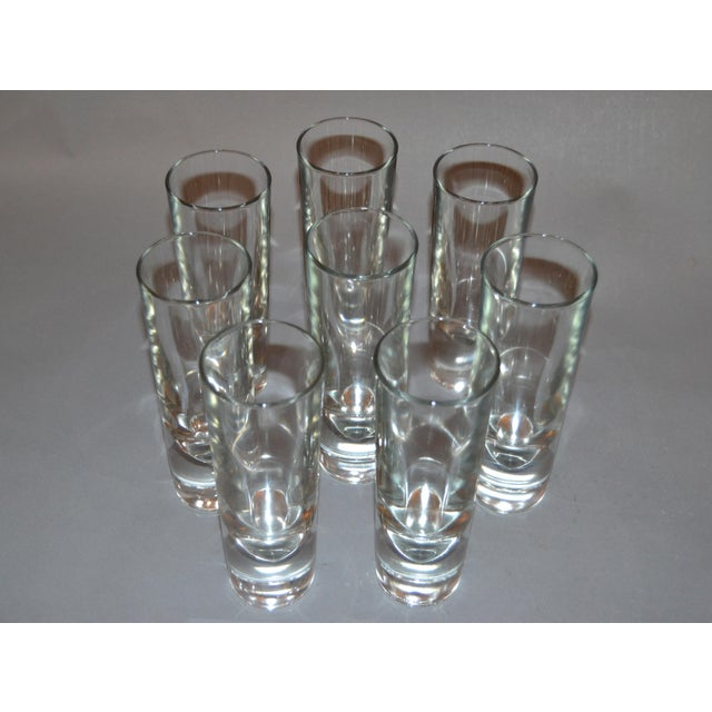 Set of 8 Carlo Moretti Modern Heavy Blown Glass Drinking Glasses Glassware Italy For Sale - Image 10 of 11