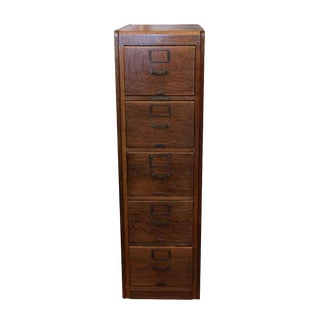 Library Bureau Sole Makers Oak File Cabinet For Sale