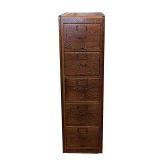 Library Bureau Sole Makers Oak File Cabinet