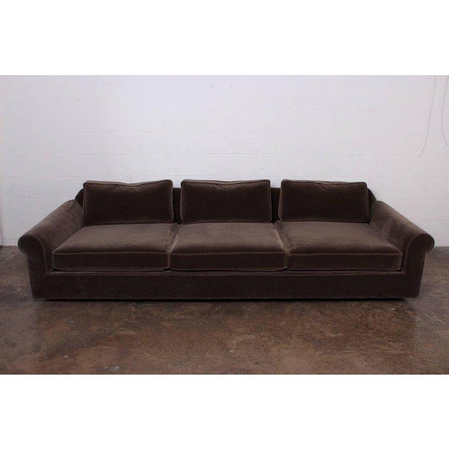 """Big Texan"" Sofa by Edward Wormley for Dunbar in Mohair - Image 2 of 10"