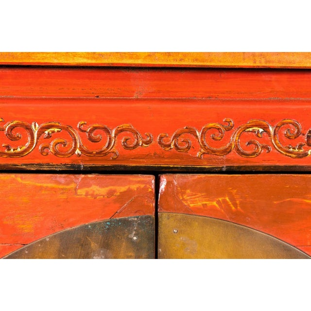 Late 19th Century Painted Chinoiserie Armoire Ca. 1880 For Sale - Image 5 of 10