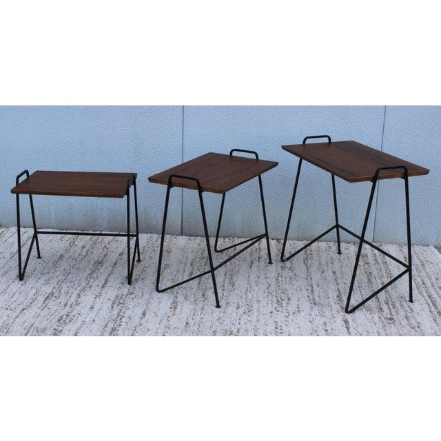 Mid-Century Modern Tony Paul Modernist Nesting Tables For Sale - Image 3 of 11
