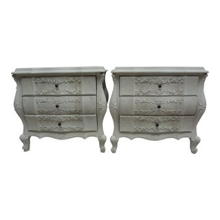 Rococo Style Nightstands - a Pair For Sale