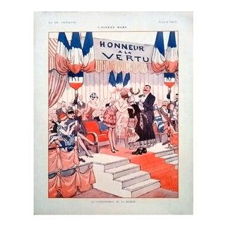 """Vald'Es 1926 """"L'Oiseau Rare"""" La Vie Parisienne Print"""