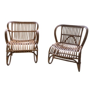 Vintage Franco Albini Chairs - a Pair For Sale