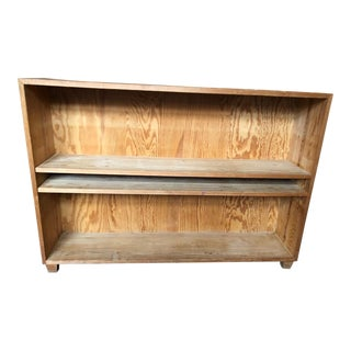 French Pine Bookshelf With Adjustable Shelves For Sale