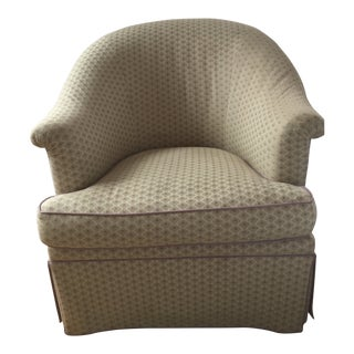 Custom Upholstered Armchair For Sale