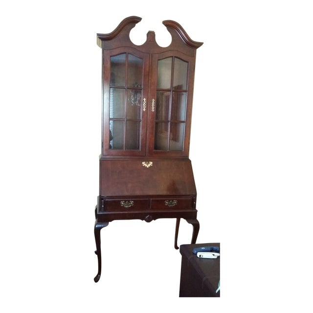 Vintage Cherrywood Secretary Desk with Hutch For Sale