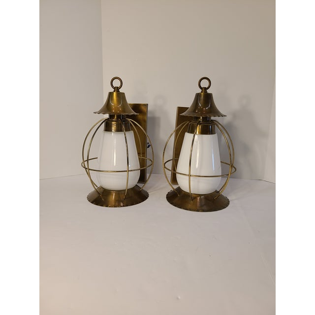 Vintage Nautical Earl Lites Wall Sconces - a Pair For Sale - Image 12 of 13