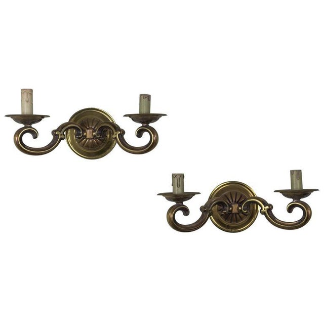 Pair of French Gilt Bronze Sconces - Image 11 of 11