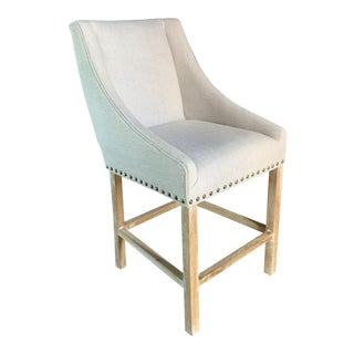 Zuo Indio Beige Bar Chair For Sale