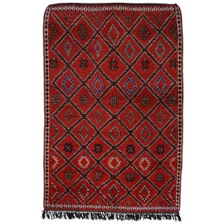 "20th Century Moroccan Berber Rug With Tribal Style - 6'5"" X 9'6"" For Sale"
