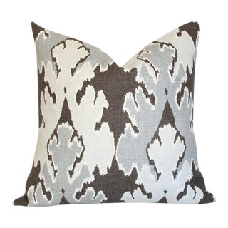 "Bengal Bazaar Grey Pillow Cover 18""sq"