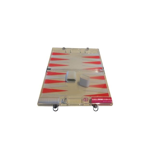 Pink Acrylic Backgammon Set - Image 2 of 2