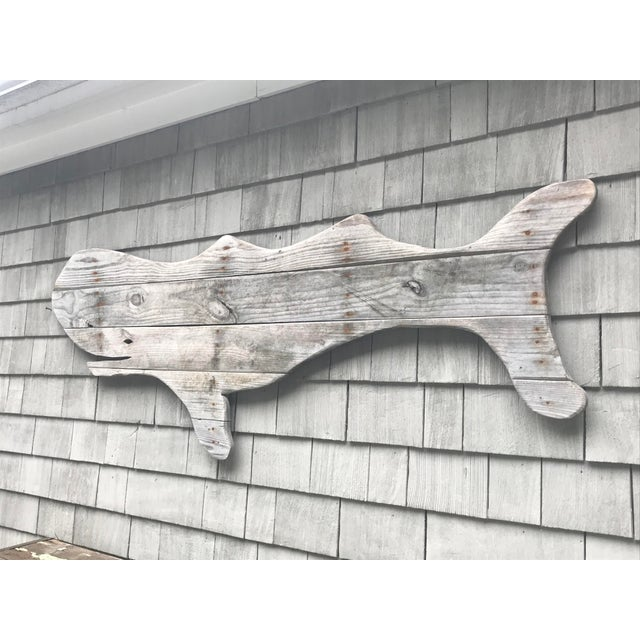 Driftwood Whale Hand Made by John Scarola For Sale - Image 4 of 5