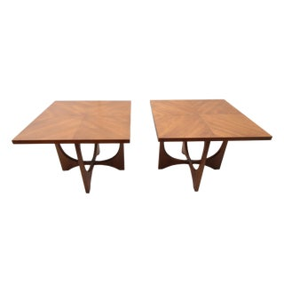 1960s Mid-Century Modern Broyhill Brasilia Large Side Tables - a Pair For Sale
