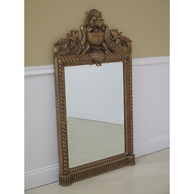 MAITLAND SMITH Ornate Gold Framed Kuba Framed Mirror Age: Approx: 20 Years Old Details: Beveled Glass Quality Construction...