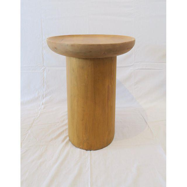 Minimalism Modern Waxed Pine Oval Side Table by Martin and Brockett For Sale - Image 3 of 4