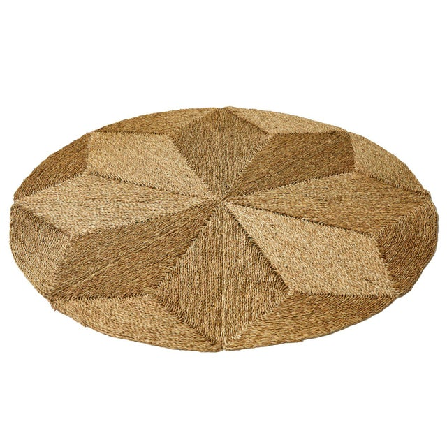 Rush House for Chairish Monte Vista Round Seagrass Rug For Sale - Image 4 of 4