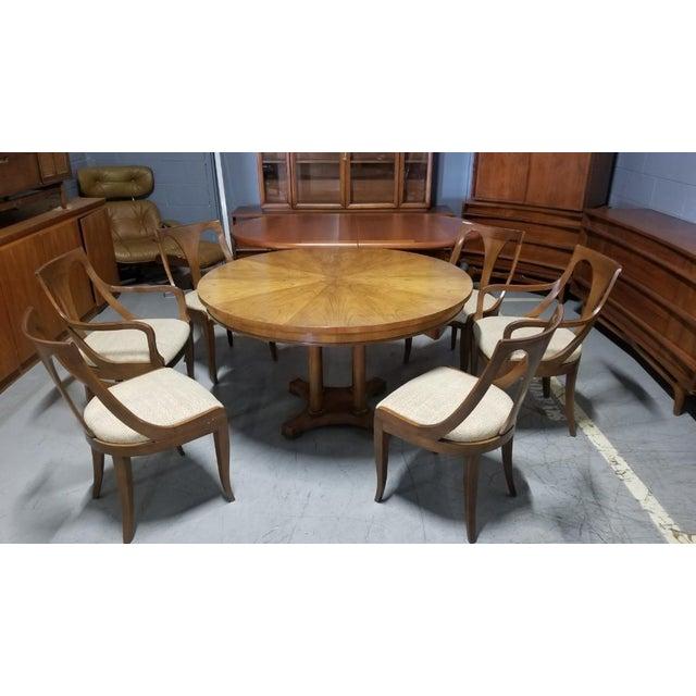 1950's Baker Furniture Palladian Collection Dining Furniture-Set of 7 For Sale - Image 10 of 10