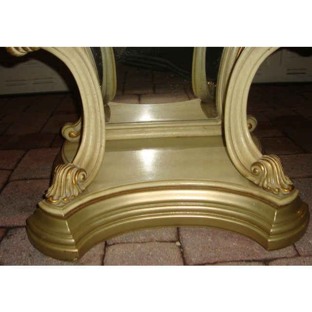 Gold Hollywood Regency Mirrored Commodes - a Pair For Sale - Image 8 of 11