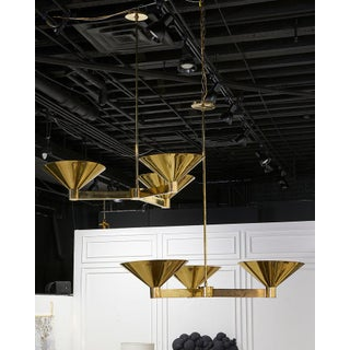 Large Scale Brass Three Arm Chandelier, Pair Available Preview
