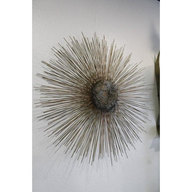 Curtis Jere Vintage Brass and Bronze Brutalist Starburst Wall Hanging - Image 3 of 10