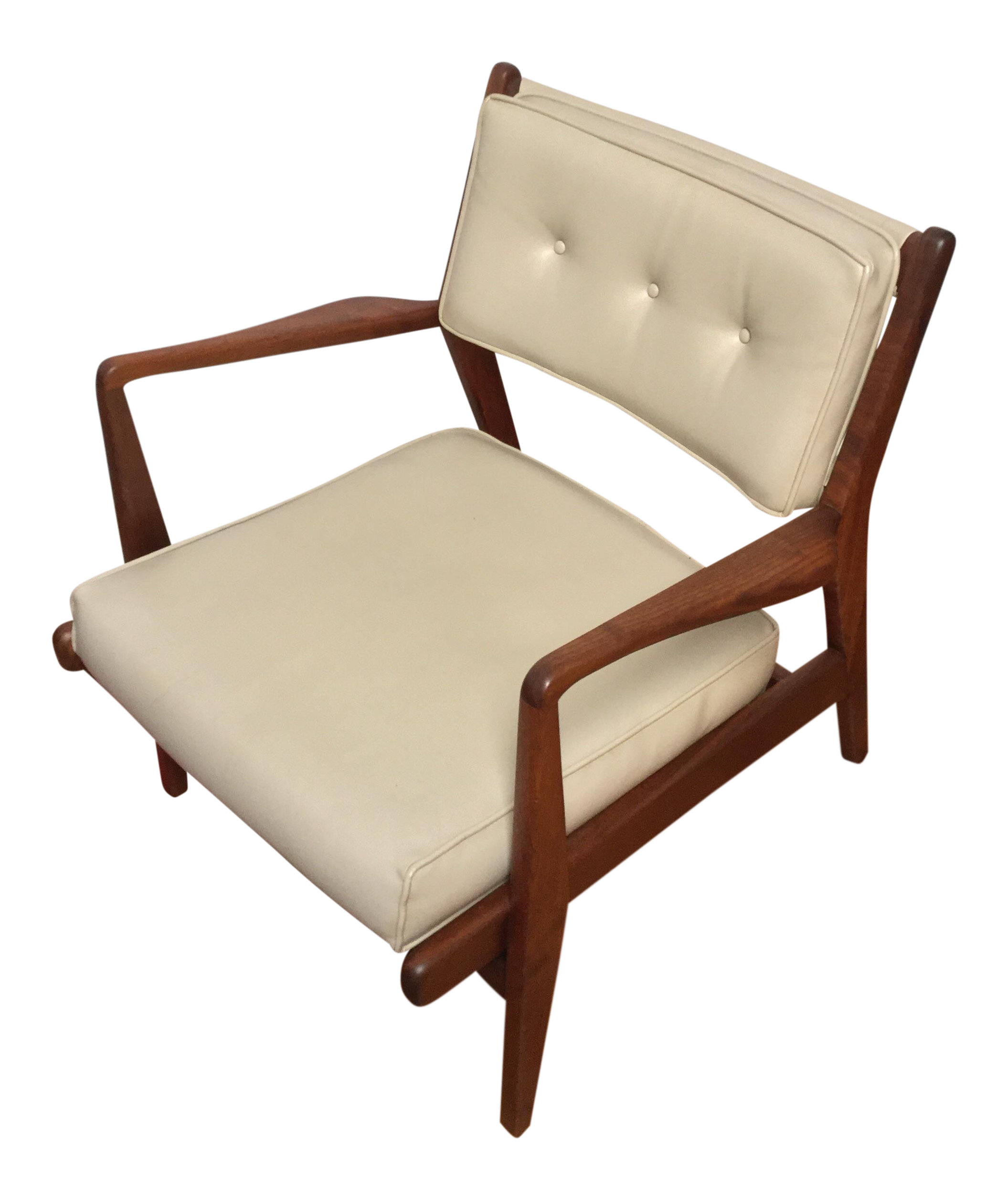 20th Century Scandinavian Modern Jens Risom Walnut Low Lounge Chair |  Chairish