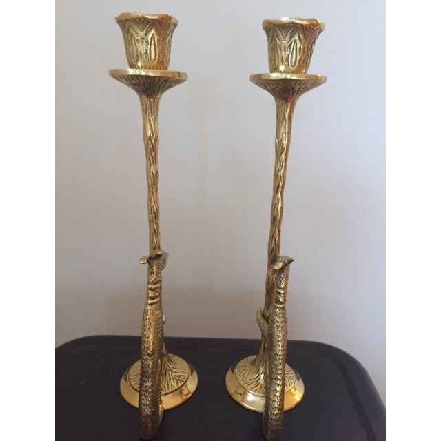 Brass Greyhound Candle Holders - a Pair - Image 5 of 6