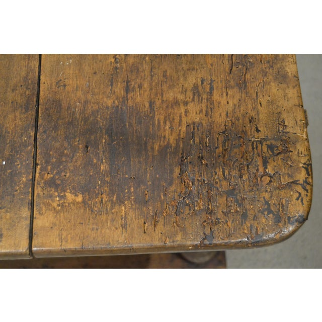 "Brown Antique ""Table D'Echangeur"" For Sale - Image 8 of 13"
