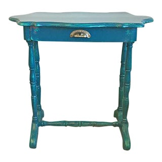 Teal Blue Writing Desk or Entry Table