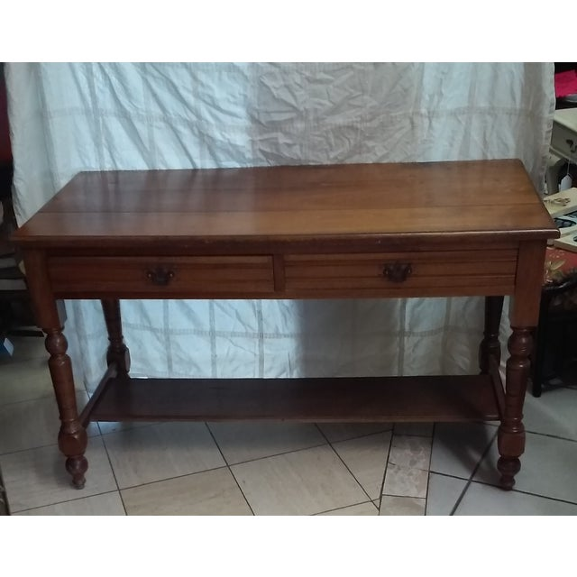 Antique Library Table - Image 2 of 3