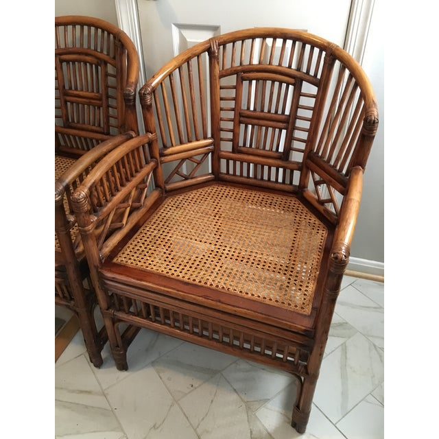 1970s Hollywood Regency Brighton Pavilion Style Bamboo Dining Set - 5 Pieces For Sale - Image 9 of 12