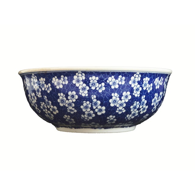 Chinese Lg Centerpiece Plum Blossom Bowl - Image 8 of 8