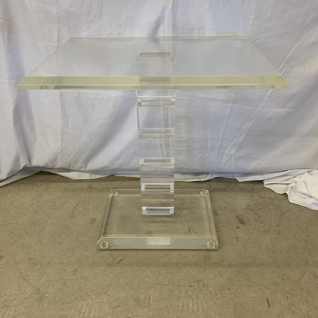 Vintage Lucite Side Table For Sale - Image 11 of 11