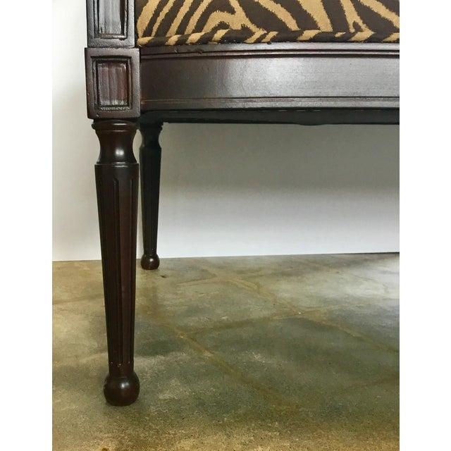 Fabric Modern Zebra Pattern Settee For Sale - Image 7 of 8